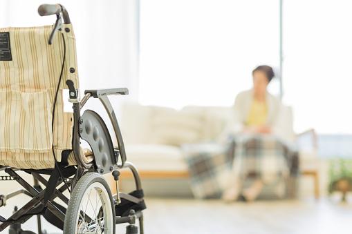 Senior lady in a wheelchair